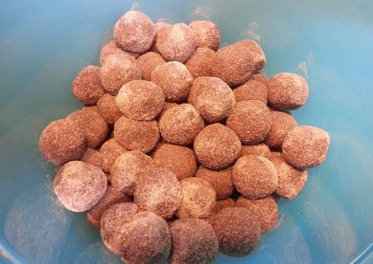 Minty chocolate espresso balls