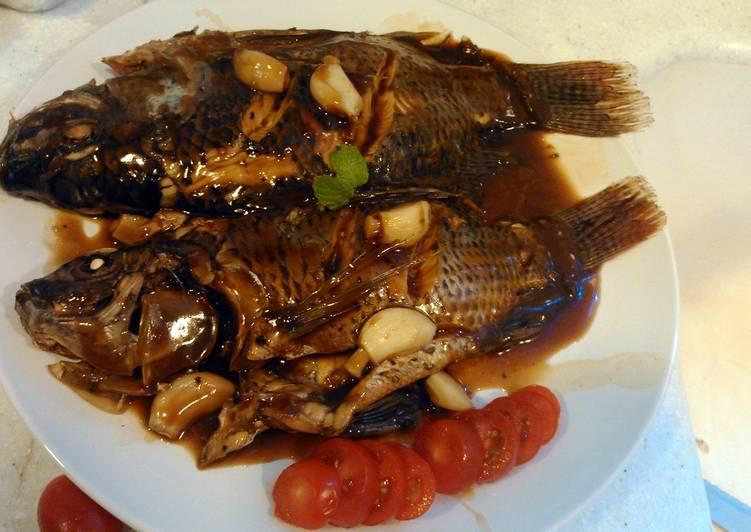 Recipe of Quick 3J's Adobong Tilapia