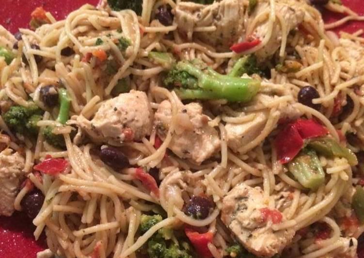 5 Minute Easiest Way to Make Royal Chicken and Oil and Herb Pasta