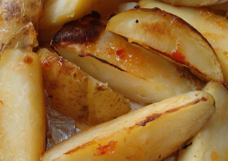 Simple Way to Make Homemade Vickys Sweet Chilli Sauced Potato Wedges, GF DF EF SF NF