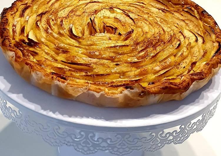 recette Tarte Fine aux pommes le délicieux