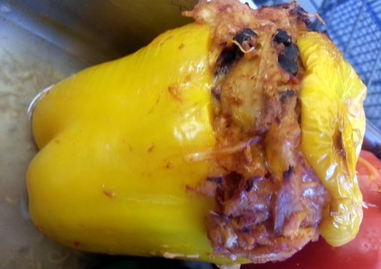 Chipotle Chicken Stuffed Bell Pepper