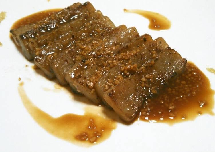 Steps to Prepare Homemade Konnyaku Steak