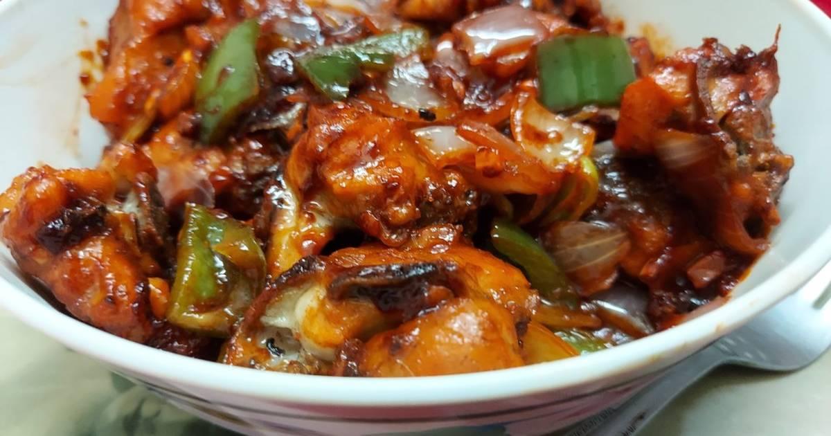 Indo Chinese Chilli Chicken Dry Recipe By Kumkum Chatterjee Cookpad