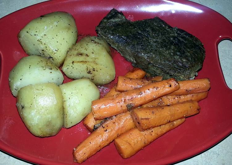 Simple Way to Prepare Any-night-of-the-week Crock Pot Beef Roast & Vegetables
