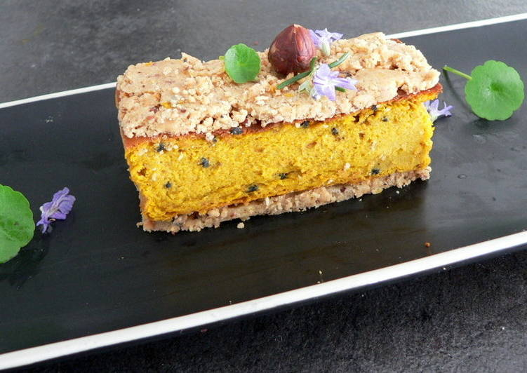 Gâteau aux carottes et son crumble de fruits secs