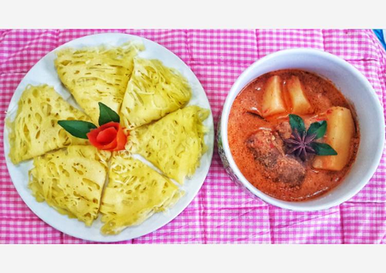 Roti Jala Kari Daging
