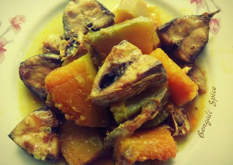 Easiest Way to Make Ultimate Hilsa Pumpkin (Bengali dish) 💛