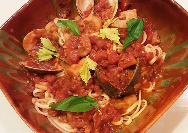 Recipe: Appetizing Seafood Arrabiata