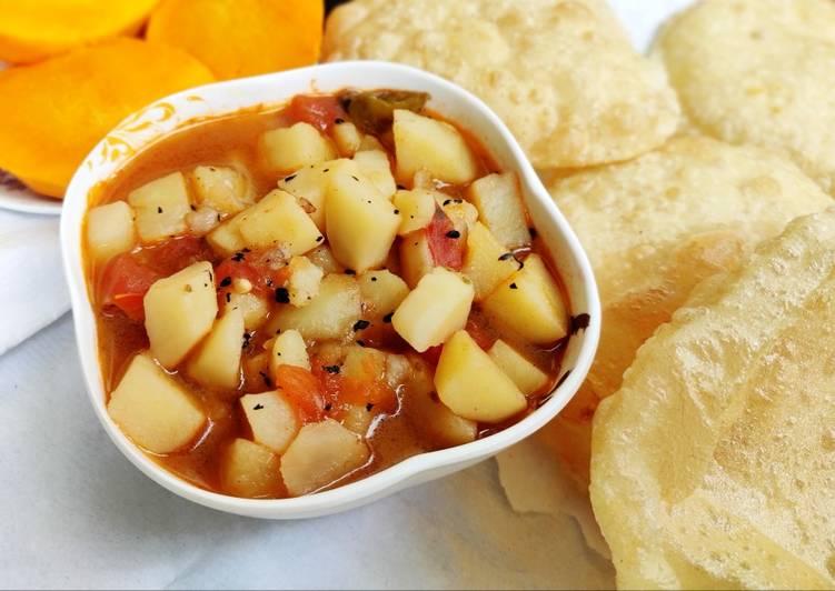 Sada alur torkari/easy simple potato curry