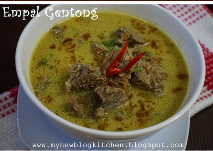 Resep Empal gentong, Enak Banget