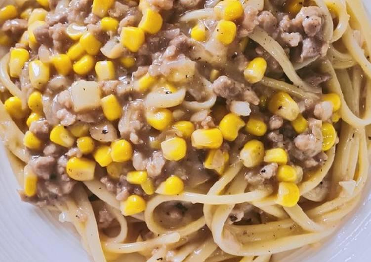 Spaghetti with Corn