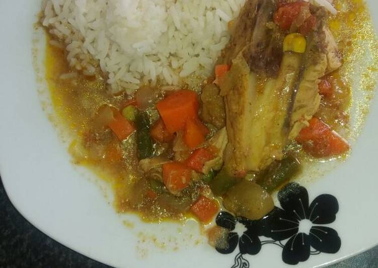 Tuesday Fresh Chicken curry with vegetables
