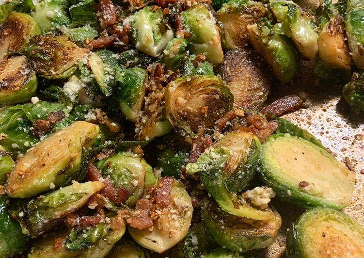 Simple Way to Prepare Homemade Bacon & Parmesan Brussels!
