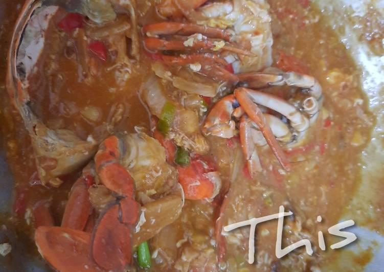 Kepiting Saus Asam Manis Sederhana - cookandrecipe.com
