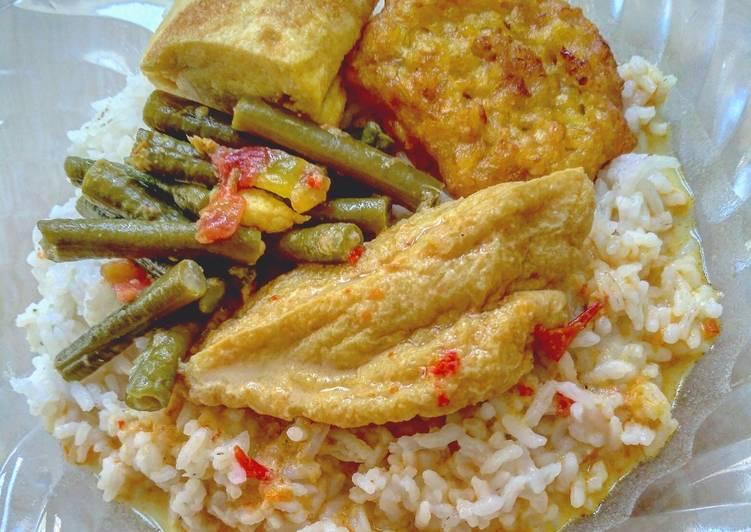 Lodeh bumbu Mangut isi Tahu & Kacang Panjang