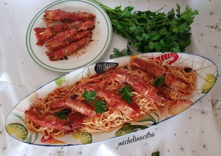 Spaghetti alla chitarra con pannocchie al sugo 🦐