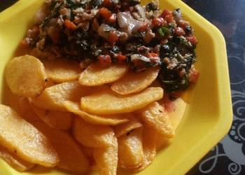 How to Recipe Yummy Chips and veggieegg sauce