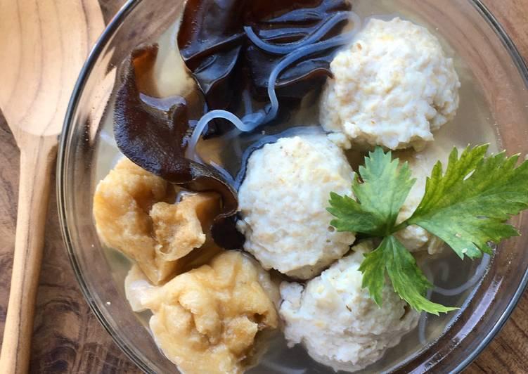 Bakso Ayam Jamur Tiram Sehat (tanpa tepung)
