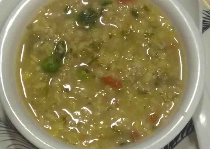 Oats dal soup