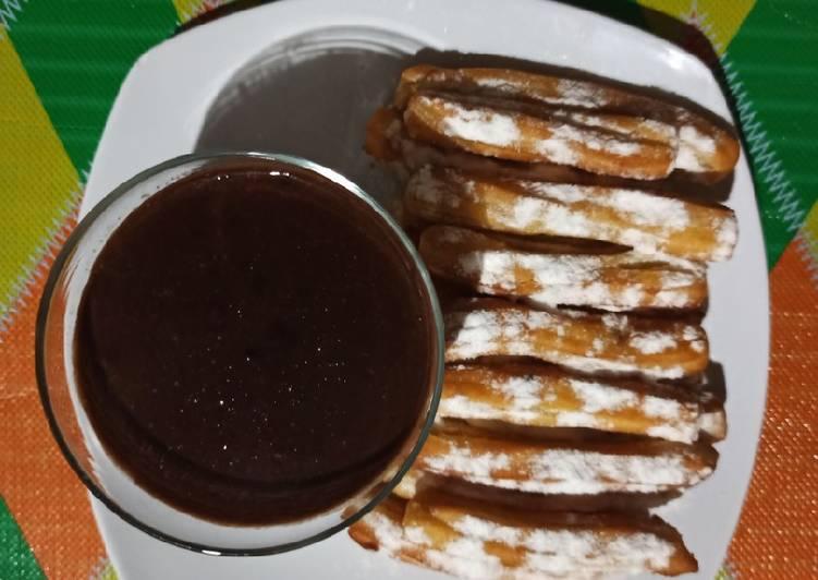 Churros saus coklat