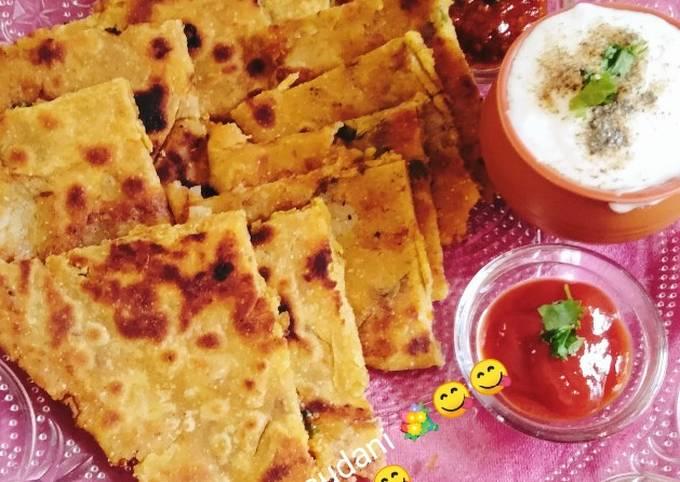 Healthy breakfast Potato ???? onion Paratha ????????