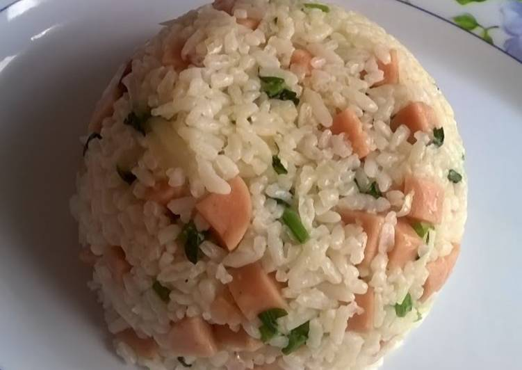 Step-by-Step Guide to Prepare Speedy Chicken Sausage Fried Rice