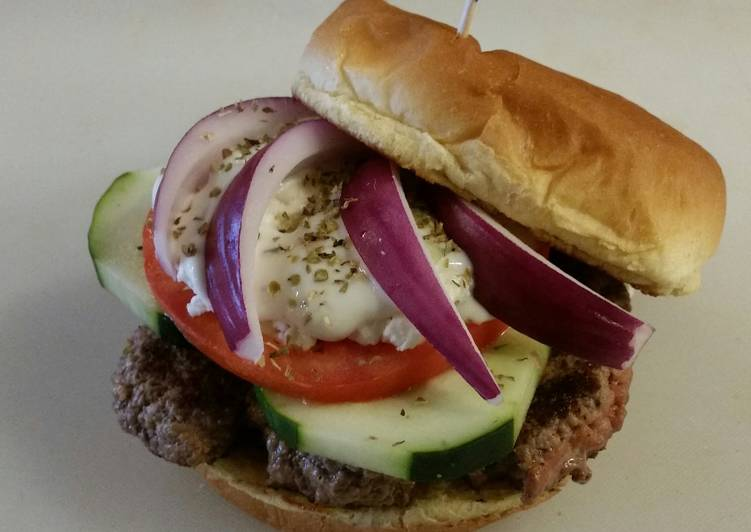 Grecian Delight Burger (Gyro)