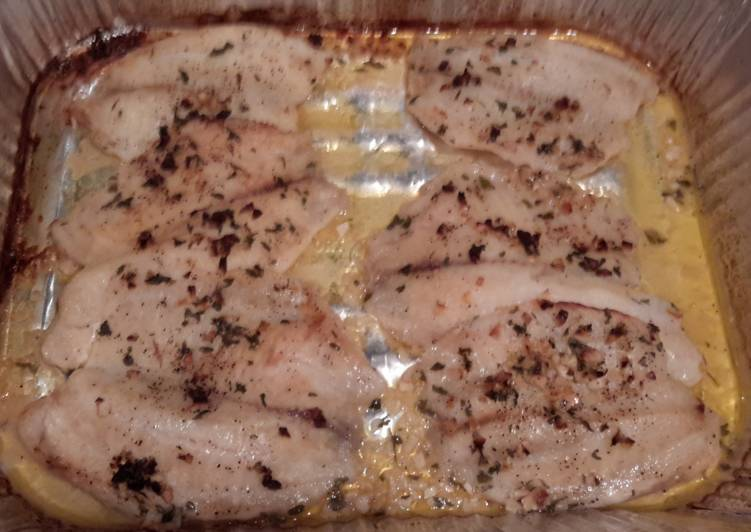 Lime Garlic Buttered Tilapia Recipe From the Better Baker