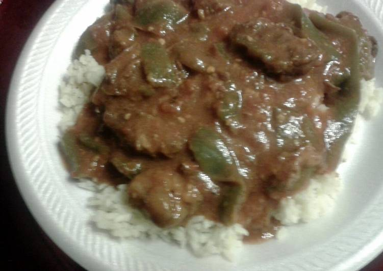 Easiest Way to Make Most Popular Sheree's Savory Pepper Steak in the crockpot