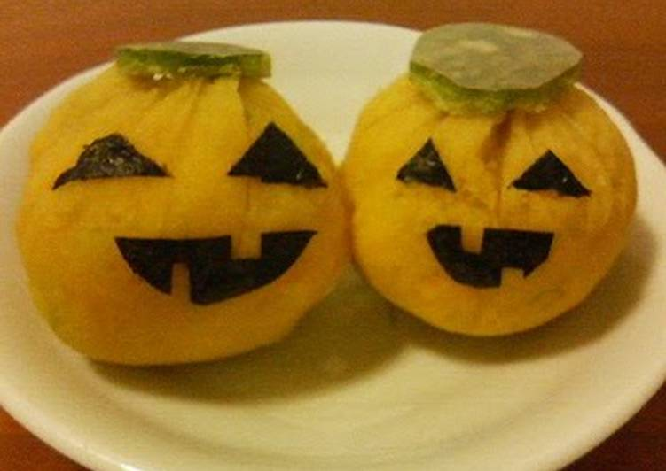 Recipe: Yummy [Easy Microwave Cooking] Halloween Kabocha Squash Chakin