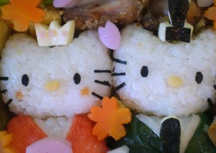 Foods That Make Your Mood Better Sakura & Doll's Festival Character Bento Hello Kitty