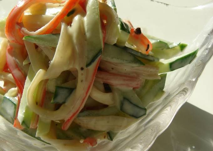Crab Cucumber Salad Recipe Japanese