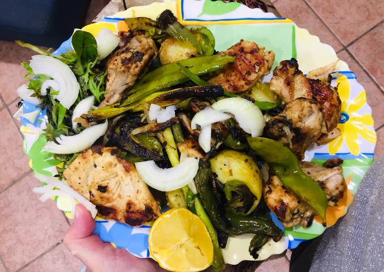 Grilled chicken with mix veg