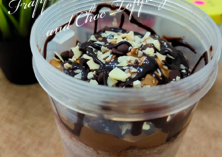 Frappucino With Dalgona and Choc Topping - resepipouler.com