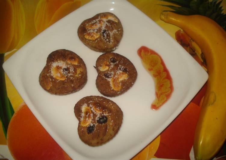 Buck-wheat-Riped Banana –Eggless Muffins