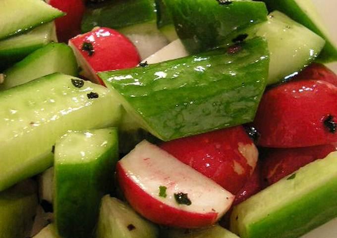 Crunchy Cucumber and Radish Salad