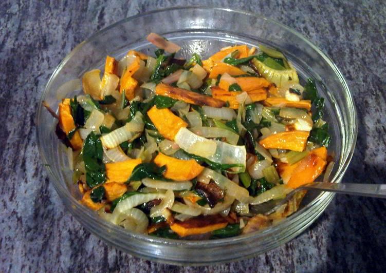 Warm Leafy Greens Salad - Super Healthy & Vegan!
