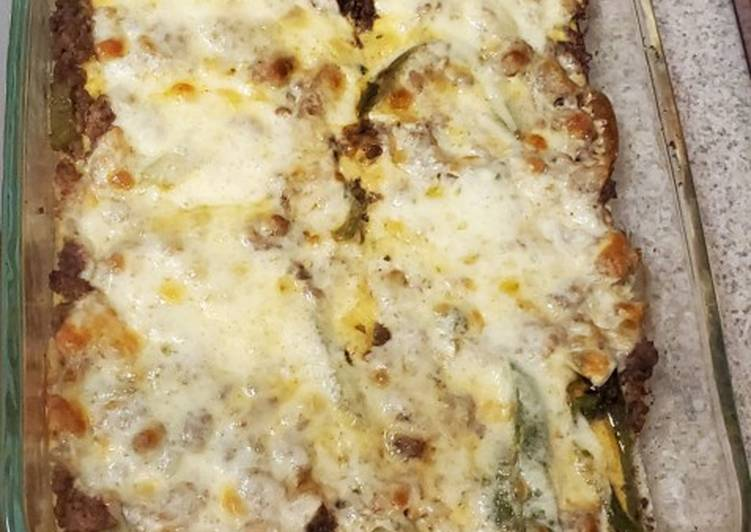Steps to Make Homemade Philly Cheesesteak Casserole