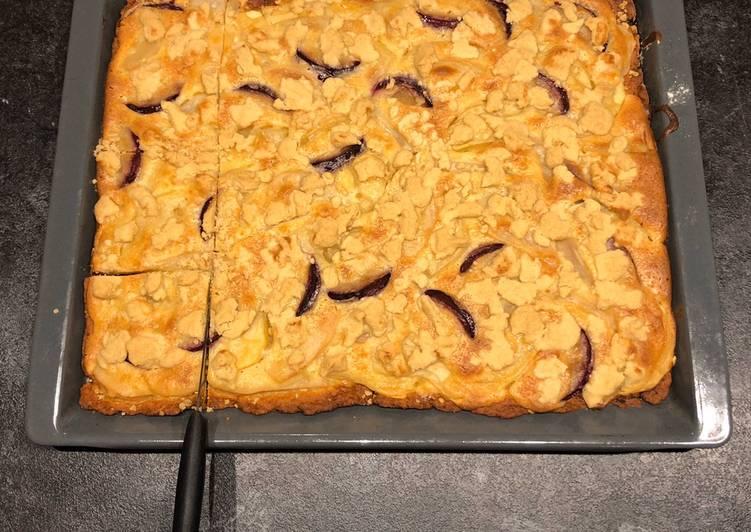 Obst-Schmand-Streuselkuchen mit Quark-Ölteig