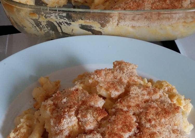 Permalink to Vickys Baked Mac 'n' Cheese, GF DF EF SF NF Recipe