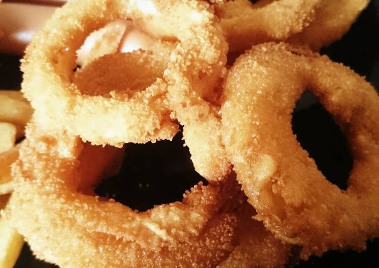 Recipe of Any-night-of-the-week Super crispy onion rings
