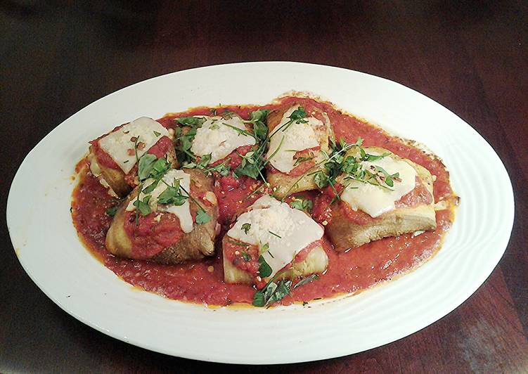 Recipe: Appetizing Roasted Eggplant Ham/Cheese Involtini (Rolls )