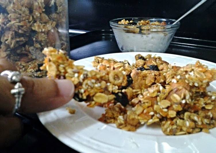 Recipe of Ultimate Carrot n cherrios granola