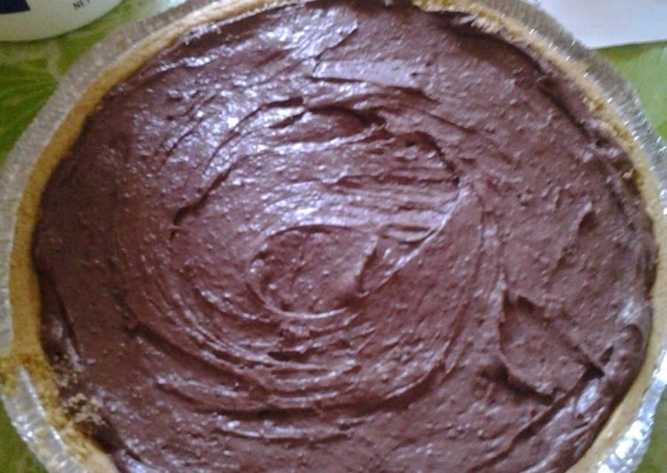 No Bake Triple Chocolate Pie