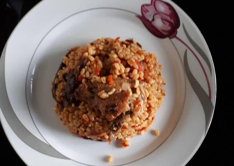 Recipe of Award-winning Jollof Bulgur wheat