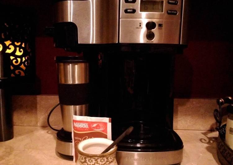 Diet mocha coffee