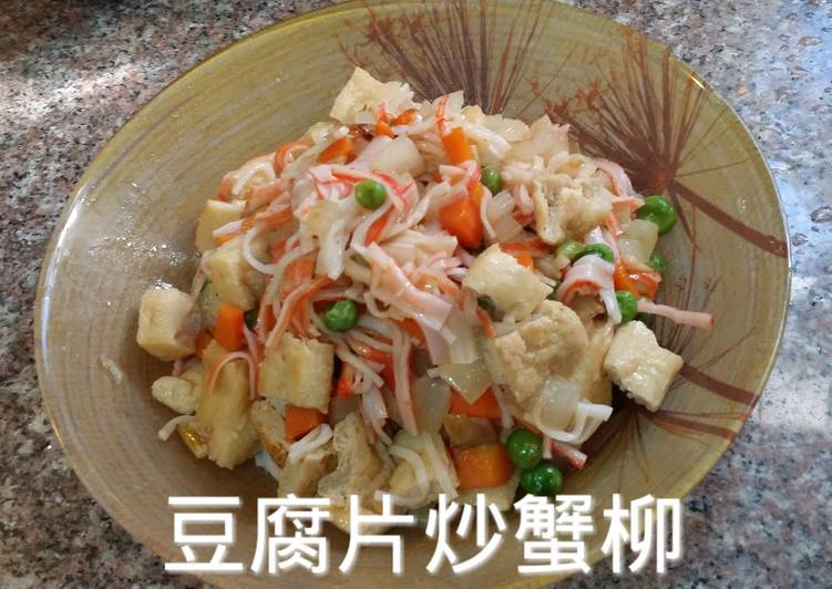 Fired Tofu skin with crab stick meat