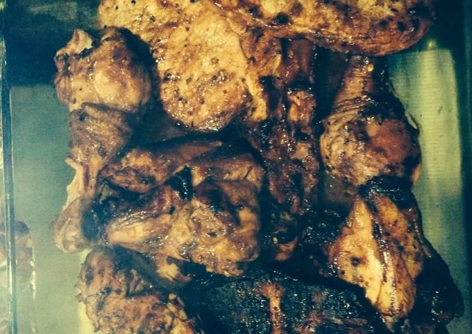 Bourbon/Caribbean Grill Chicken