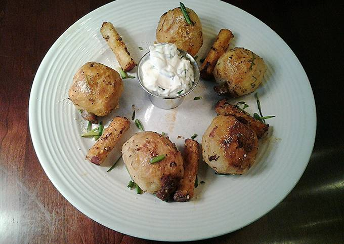 Steps to Make Award-winning Sausage in the Middle Roasted Potatos with Roasted Middles